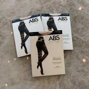 NWT ABS Allen Schwartz Shaper Pantyhose - 3 pair